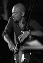 Alvise Seggi, doublebass player at Venice Music Gourmet (Jazz Venice Evening)